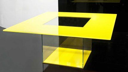 Tavolino in cristallo Icaro di Casali