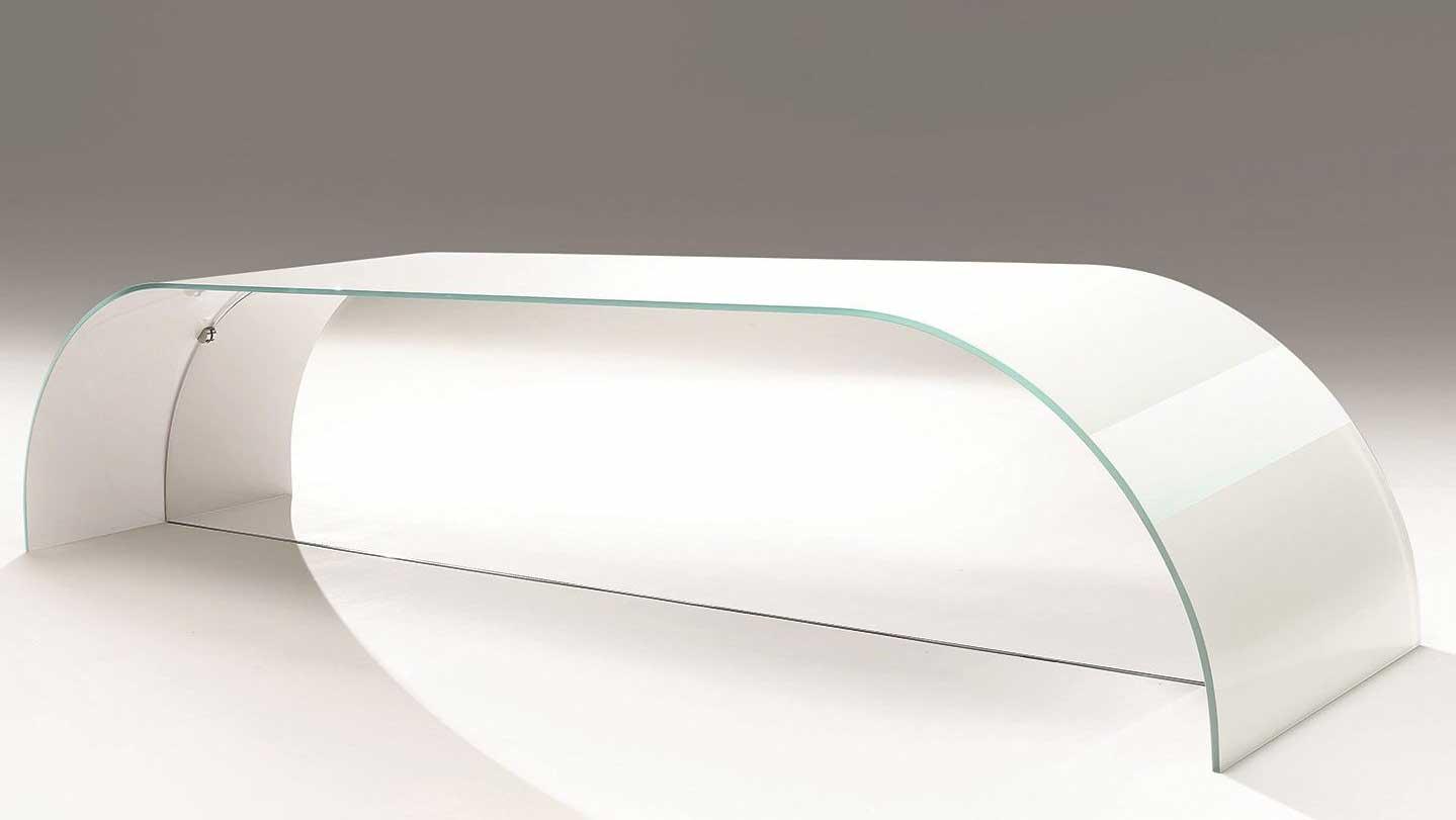 Tavolino in cristallo Nastro di Casali